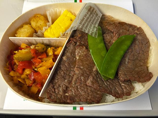Roast meat lunch box