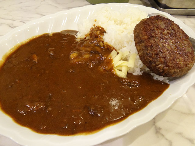 Hamburger Curry with Cheese