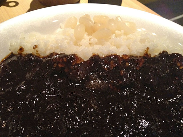 Black Curry and Rice with Pickled Shallots