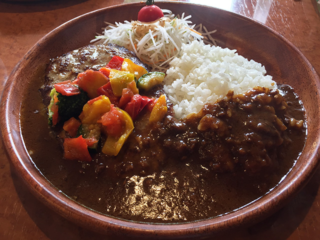 Summer Vegetables & Curry Burg Dish