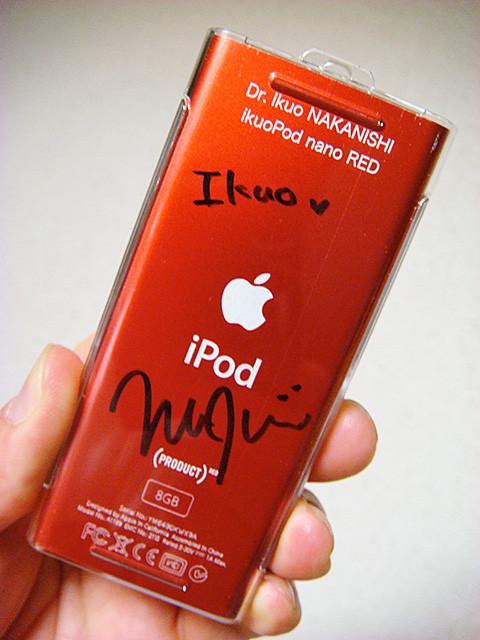 Autographed iPod nano RED