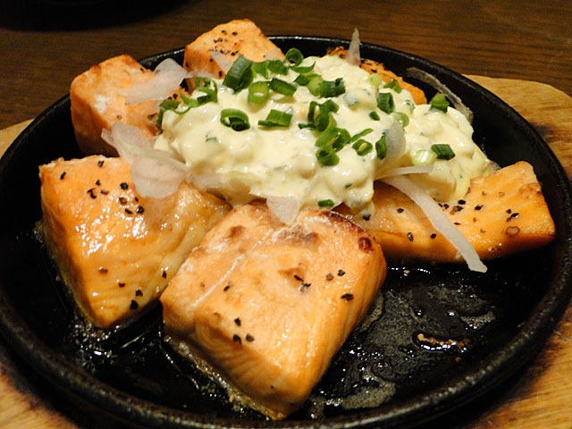 Iron Pan-Fried Salmon with Mayonnaise