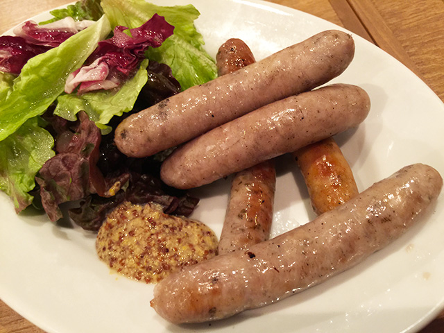 Three Assorted Sausages