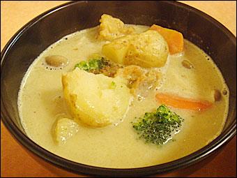 ホワイトスープカレー