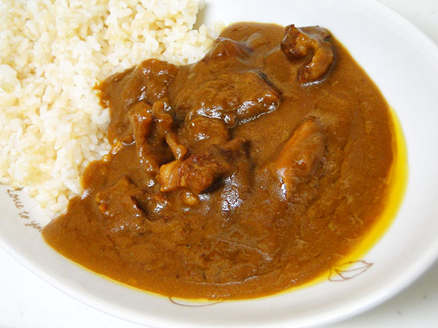 Beef Fibrous Meat Curry with Sprouted Brown Rice