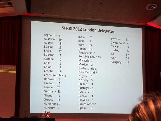 SFRRI 2012 London Delegates