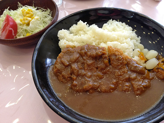 Cutlet Curry with Rice and Salad