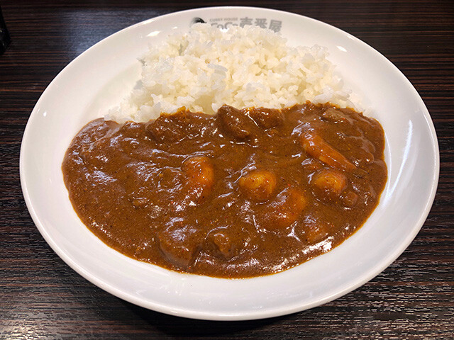 Small Beef Curry with Stewed Shrimps