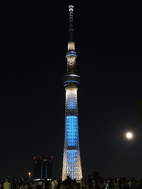 TOKYO SKY TREE with Superfullmoon