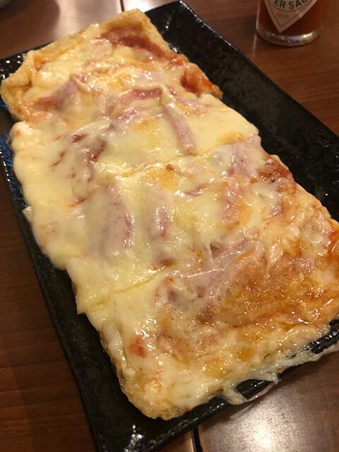 Thin Fried Tofu Pizza