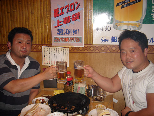Mr. Taka and Dr. MaCHO at Takeya Honten