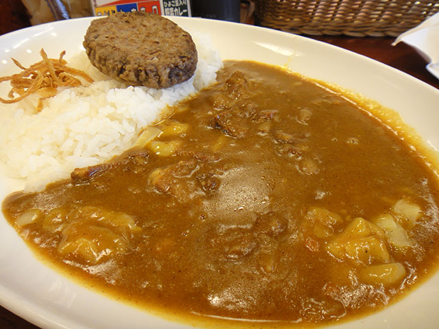 Beef Curry with Hamburger and Cheese