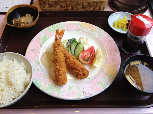 Deep-Fried Prawn Set Meal