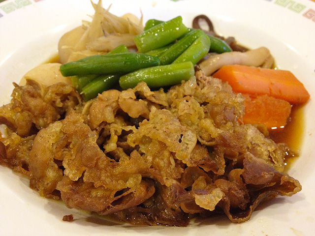 Simmered Taro, Beef, and Vegetables