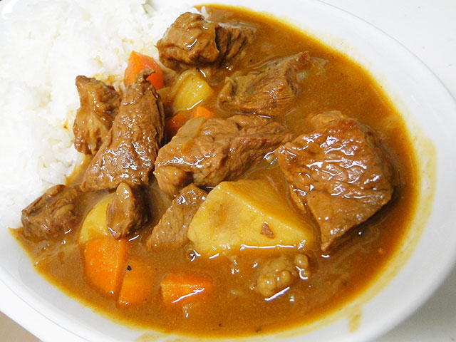 Homemade Cubic Beef Curry