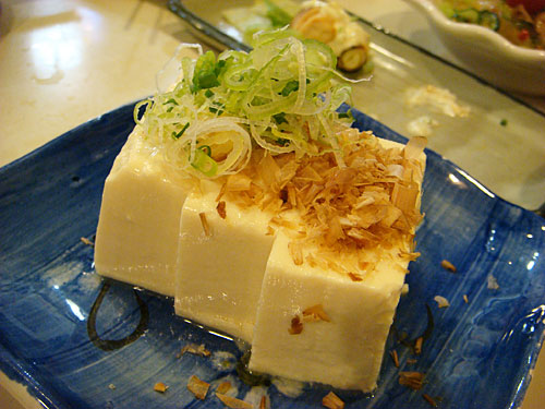Tofu with Shaved Bonito