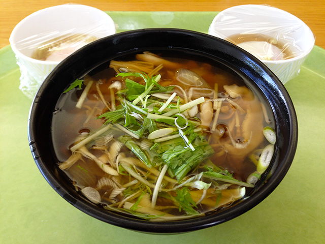 Soba Noodles in Soup with Mushrooms and Soft-Boiled Eggs