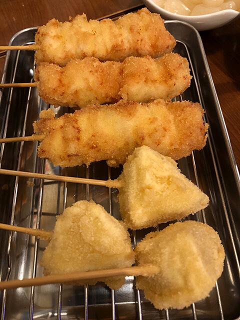 Chicken and Cheese Kushikatsu