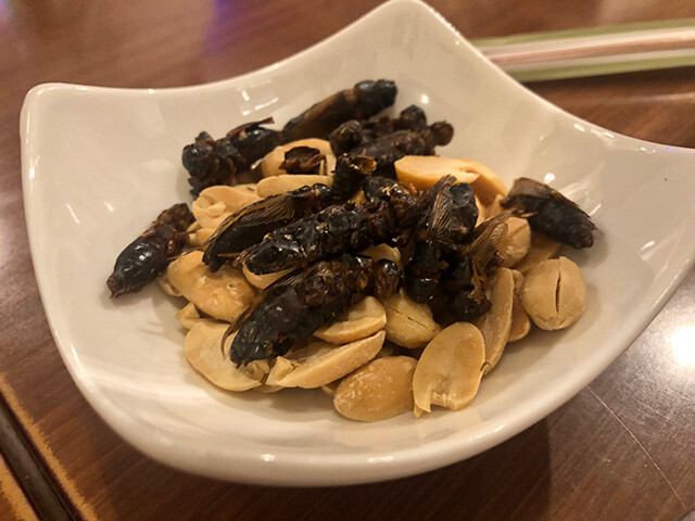 Dried Crickets and Peanuts