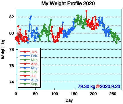 My Weight Profile 2009