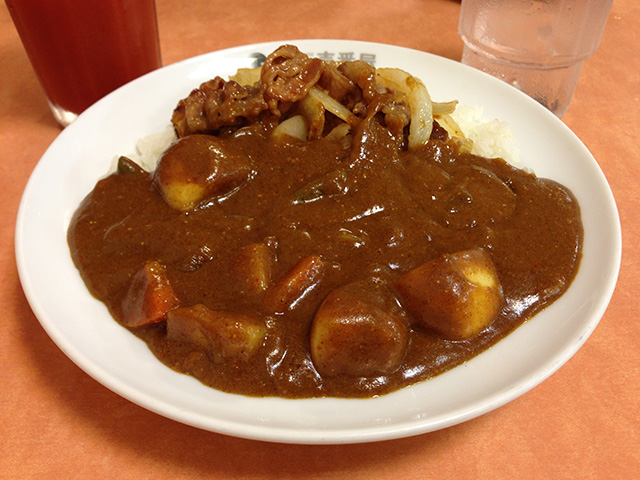Half Order Beef Curry with Grilled Short Rib and Vegetables