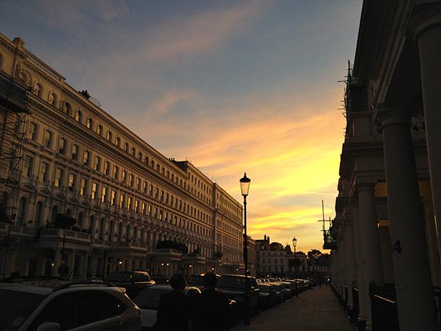 Beautiful Sunset in London