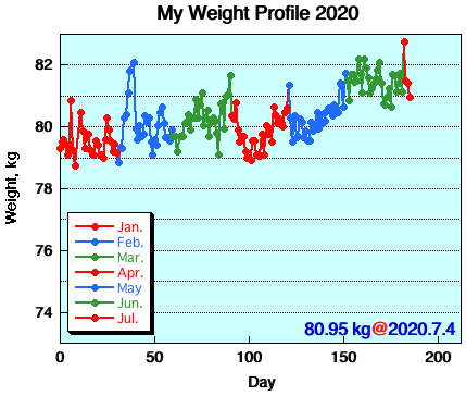 My Weight Profile 2007