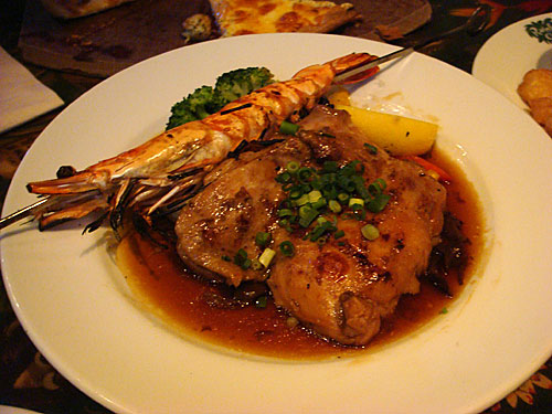 Grilled Shrimp and Chicken