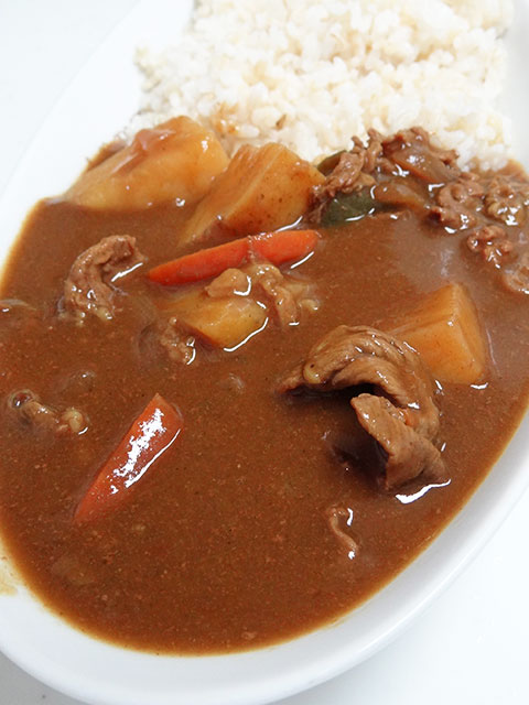 Homemade Beef Curry with Sprouted Brown Rice