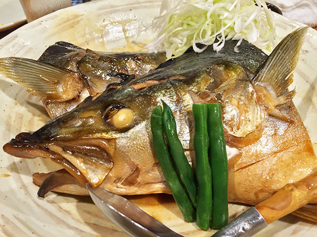 Simmered Yellowtail Head