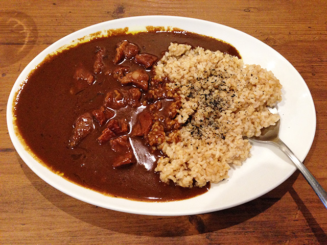 Double Beef Curry with Brown Rice