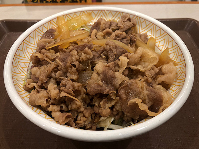 Gyudon with Lettuce on Tofu