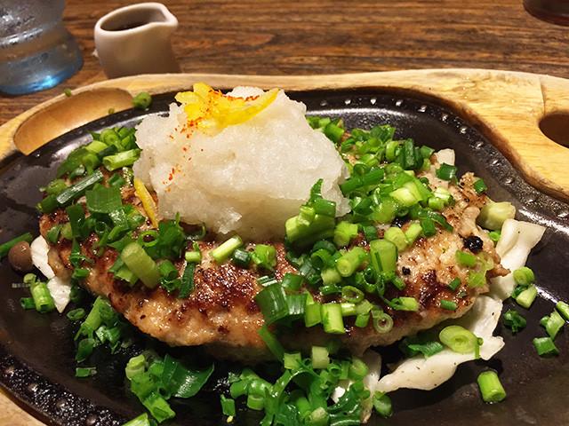 Hamburger Steak with Ponzu Sauce and Grated Japanese Radish