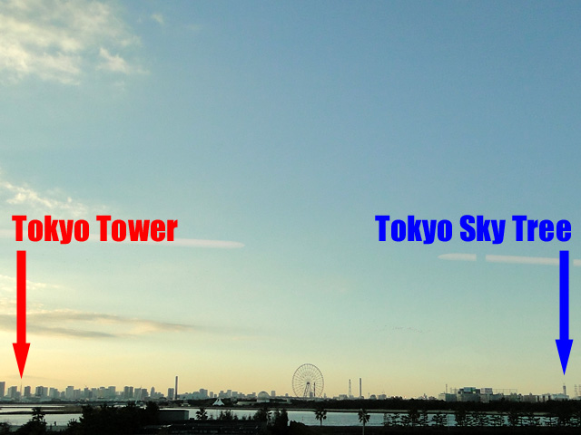 TOKYO TOWER and TOKYO SKY TREE