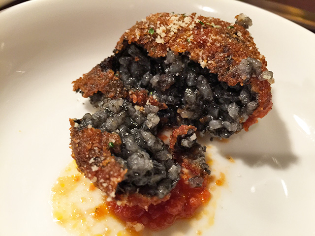 Squid Ink Rice Croquette