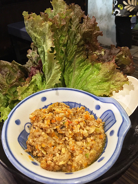 Minced Meat with Lettuce