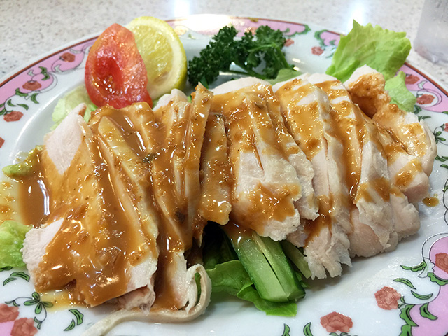 Steamed Chicken with Sesame Sauce