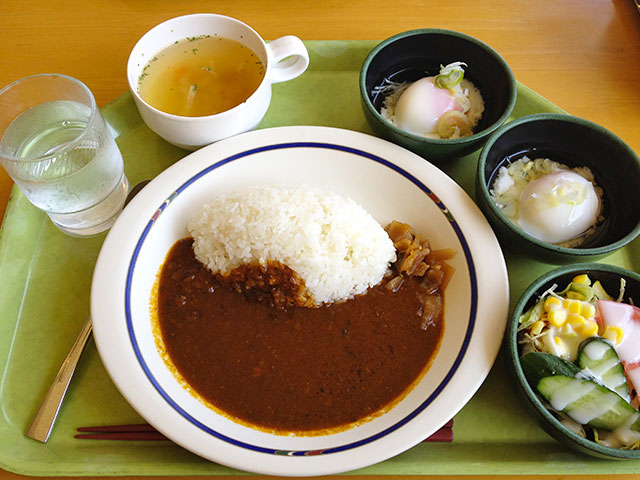 Beef Curry and Rice with Soft-Boiled Eggs