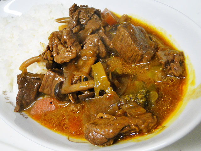 Homemade Spicy Beef Curry
