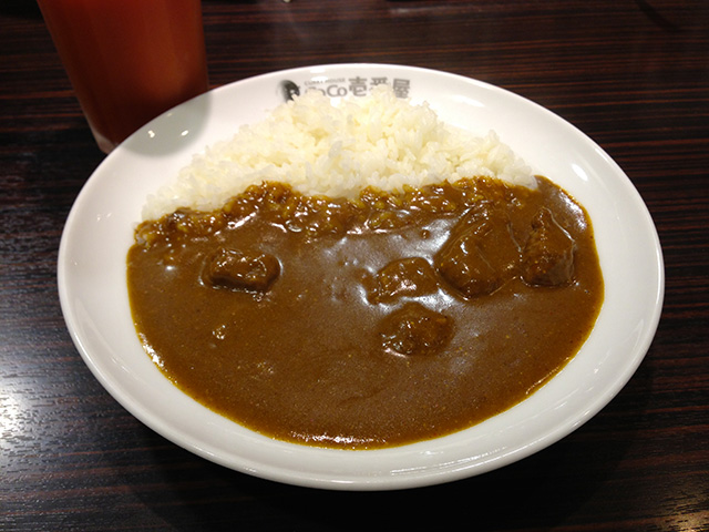 Half Order Beef Curry with Vegetable Juice