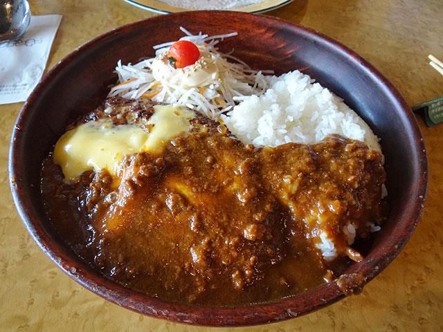 Cheese Curry Burg Dish