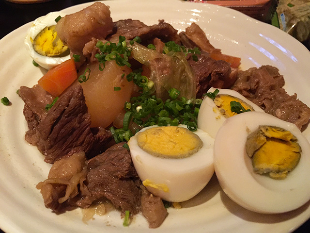 Stewed Fibrous Meat with Daikon Radish and Eggs