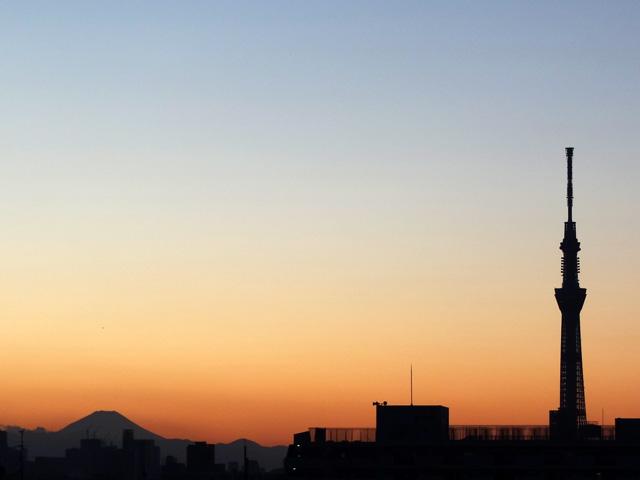 Mt. Fuji and TOKYO SKY TREE