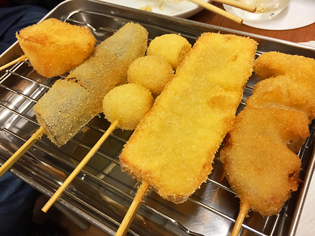 Deep-Fried Skewers