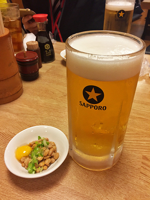 Beer and Natto