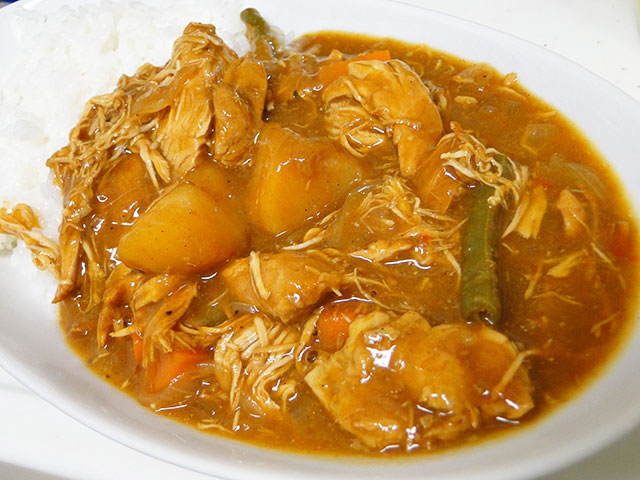Homemade Stewed Chicken Curry with Cubic Vegetables