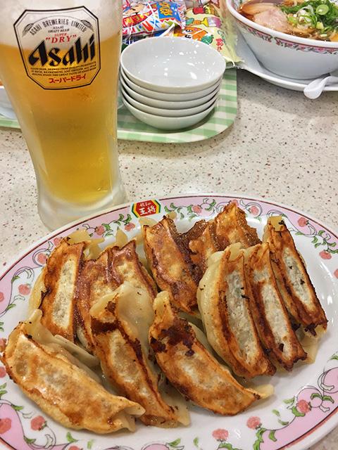 Gyoza with Beer