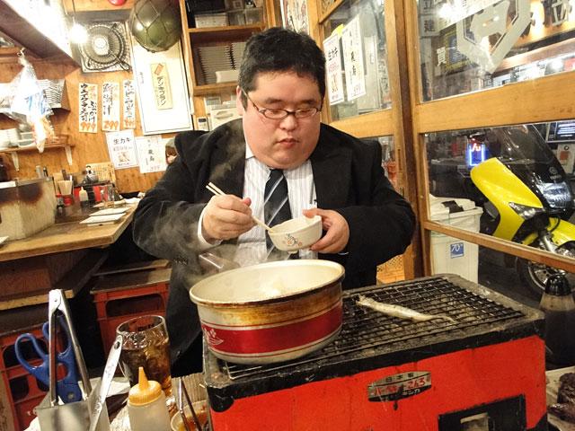 Mr. Boo Eating Ramen Noodles