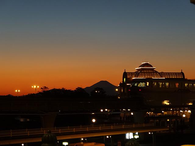 Mt. Fuji and Tokyo Disneyland Station