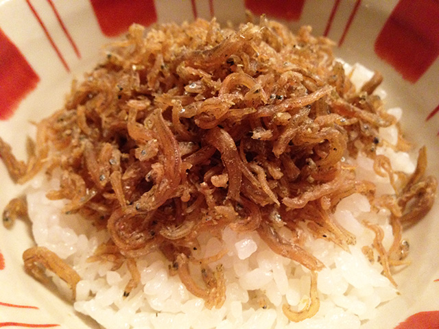 Rice with Whitebaits